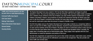 Dayton Municipal Court Website screenshot