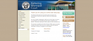 Kettering Municipal Court website screenshot