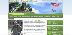 Miamisburg Municipal Court website screenshot