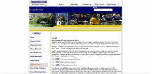 Oakwood Municipal Court website screenshot