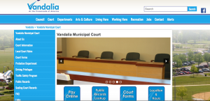 Vandalia Court website screenshot