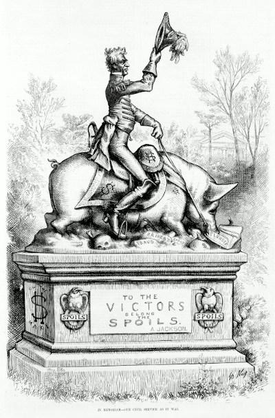 Andrew Jackson Political Spoils Cartoon
