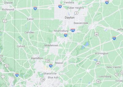 Dayton/Cincinnati Map
