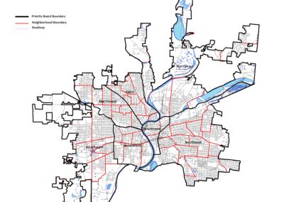 Dayton Priority Boards Map
